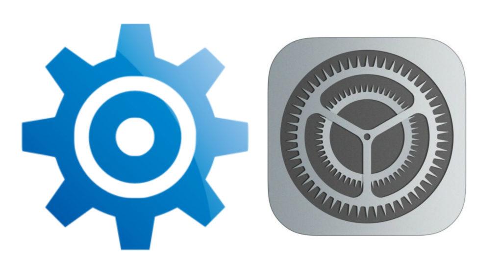 Icônes d'accès aux Réglages iPhone