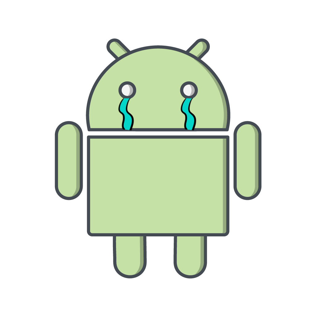 Logo Android triste