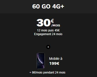 iphone Xr avec engagement